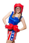 Funny boxer — Stock Photo