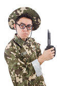 śmieszne żołnierz — Zdjęcie stockowe