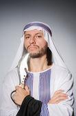 Arab man with sharp knife — Stock Photo