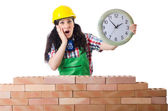 Concept of delay in construction — Stock Photo