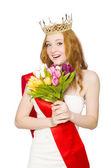 Beauty contest winner — Stock Photo