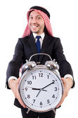 Arab man in time concept — Stock Photo