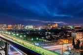 Baku azerbajdzjan under kvällen — Stockfoto