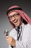 Funny arab doctor — Foto de Stock