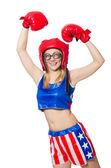 Vrouwelijke bokser — Stockfoto