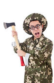 Funny soldier — Stockfoto