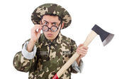 Funny soldier — Foto Stock