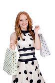 Woman in shopping concept — Foto Stock