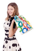 Woman in shopping concept — Stockfoto
