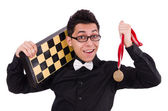 Funny chess player — Stock Photo