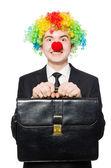 Clown businessman — Foto Stock