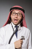 Funny arab doctor — Stock Photo
