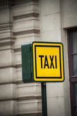 Taxi sign — Stock fotografie