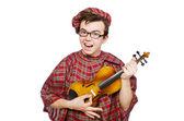 Scotsman with violin — 图库照片