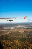 Крыло самолета — Стоковое фото