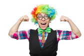 Clown isolated — Stockfoto