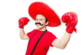 Funny mexican with boxer gloves — Stock fotografie