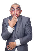 Badly beaten businessman — Stock Photo