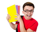 Young student with books — Stock Photo