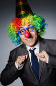 Clown businessman — Stockfoto