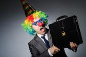 Clown businessman — Stock Photo