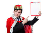 King businessman — Foto de Stock