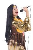 Spanish woman singing — Stockfoto