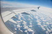 Airplane wing — Stock Photo