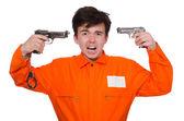 Prison inmate — Stock Photo