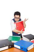 Man with   folders — Stock Photo
