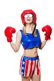 女性のボクサー — ストック写真