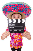 Mexican with smovie clapboard — Stock Photo