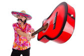 Mexican with guitar — Stock Photo