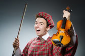 Scotsman with violin — Stock Photo