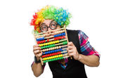 Clown accountant — Stockfoto