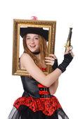 Woman pirate — Stock Photo