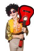 Adam gitar ile — Stok fotoğraf