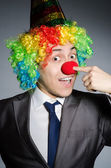 Clown businessman — Stockfoto