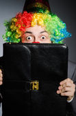 Clown geschäftsmann — Stockfoto