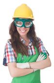 Woman wearing goggles — Stock Photo