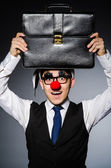 Clown businessman — Stock fotografie