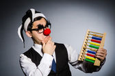 Clown mit abacus — Stockfoto