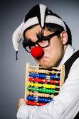 Clown mit abacus — Stockfoto