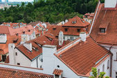 Rooftops in Prague on bright summer day — Photo