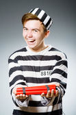 Funny prison inmate — Photo