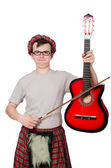 Scotsman with musical instrument — Stock Photo