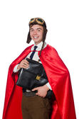 Funny hero with briefcase — Stock Photo