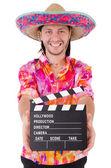 Rolig mexikan med sombrero hatt — Stockfoto