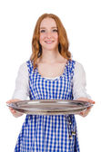 Nice attractive waitress — Stock Photo