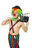Pagliaccio con scheda film — Foto Stock